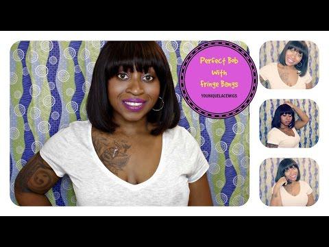 HOW TO ☆ RIHANNA INSPIRED WIG - SHORT CUT BOB WITH FRINGE BANGS ! ☆ | SamoreLoveTV