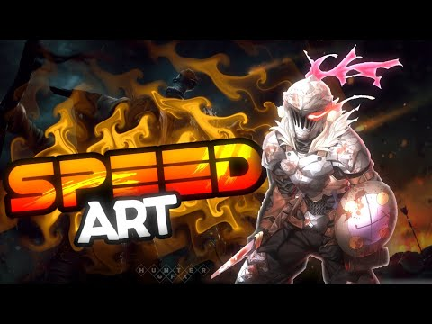 speed-art:banner-de-goblin-slayer-|-pixellab-y-ps-touch-|-hunter2703