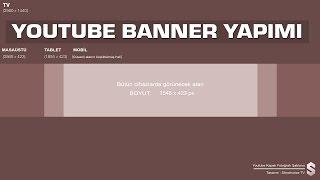 Youtube Kapak Fotoğrafı (Banner) Hazırlama