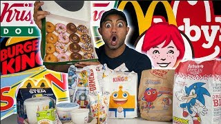 EATING every FAST FOOD kids meals in my AREA! BEST TOY EVER!