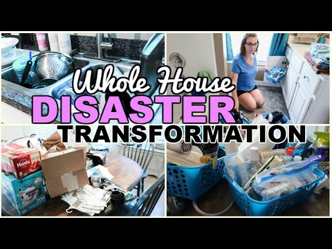 EXTREME MESSY HOUSE CLEAN WITH ME 2019 | ALL DAY WHOLE HOUSE TRANSFORMATION | SAHM MOTIVATION