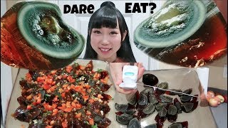 """Darkness Recipe! Cook&Eat 100 Years Old Smelly Duck Eggs (Pidan)Challenge! Husband """"I'd Eat Bugs"""""""