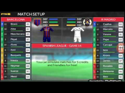 Fts fts 15 carrer cu Barcelona vs Real Madrid derby el clasico