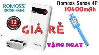 Pin sạc dự phòng Romoss Sense 4P 10400mAh chính hãng giá rẻ