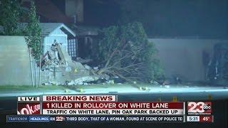 1 killed in crash at White Lane and Pin Oak Park Blvd.