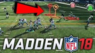 Madden 18 gameplay trailer full breakdown! target passing, coach adjustments, etc!