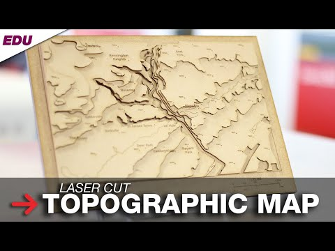 Laser Cut Topographic Maps | Topographic Map Assembly | Geography Project