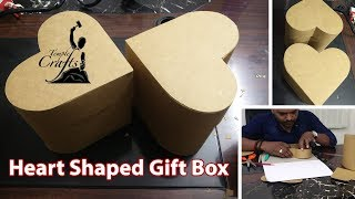 How To Make A Heart Shaped Gift Box | Mahesjeevan | Temple Crafts | DIY