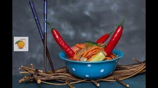Огурцы по корейски с мясом. Рецепт простой, вкусной и сытной закуски