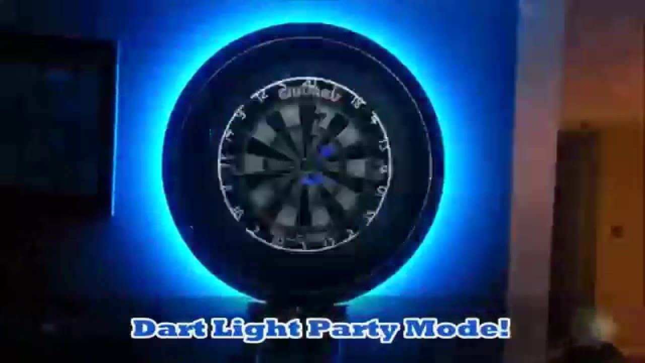 Dart light party mode youtube for Diy dartboard lighting