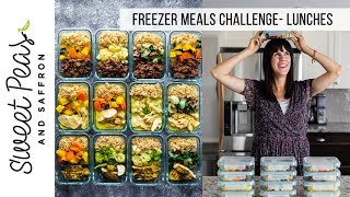 STOCK UP THE FREEZER CHALLENGE | Week 2- Lunches