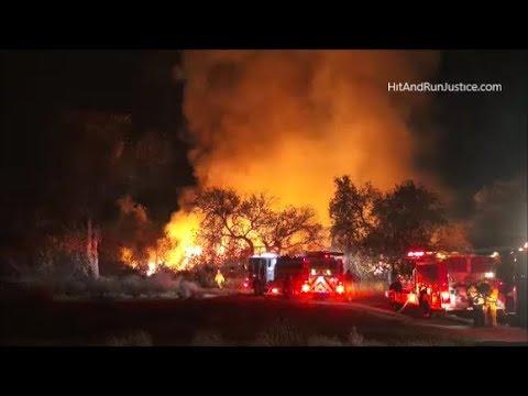 12 13 2017 Riverside, CA Santa Ana Riverbed Brush Fire