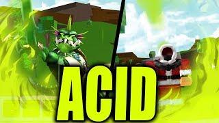 NEW ACID MAGIC | ELEMENTAL BATTLGROUNDS ACID ELEMENT in ROBLOX| iBeMaine