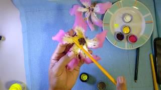 Aprenda a Pintar e Desenhar a Flor Paineira Rosa