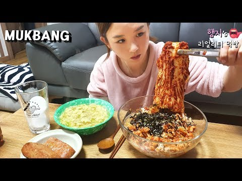 Real Mukbang:) Silbi Kimchi | Spiciest Kimchi in South Korea | Bibimbap ★ (ft. Egg Soup,Tuna,SPAM) from YouTube · Duration:  10 minutes 51 seconds
