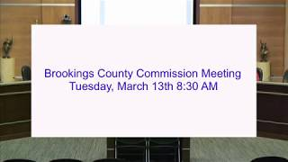 Brookings County Commission 2018-03-13