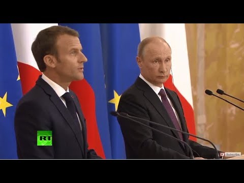 Putin & Macron speak at St. Petersburg Forum