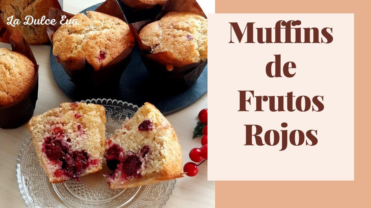 Irresistibles Muffins de Frutos Rojos