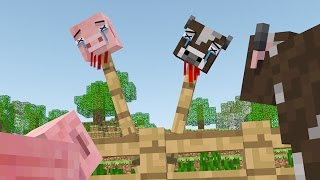 Cow Life Pig Life & Cruel Farmer- A Minecraft Animation