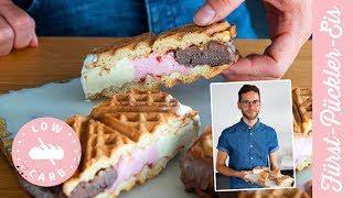 Fürst Pückler Eis Sandwich - Rezept OHNE Zucker