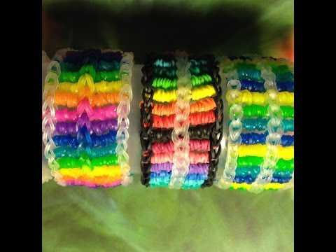 Candy Streamer Bracelet (Part 1) On Rainbow Loom