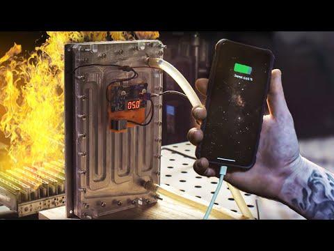 Заряжаем IPHONE огнем. DIY Зарядка от костра.
