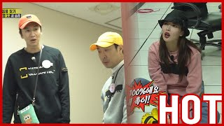 [HOT CLIPS] [RUNNINGMAN]    HYUNA is filming a spy movie all by herself!! SUPER CUTE💙💚💛(ENG SUB)