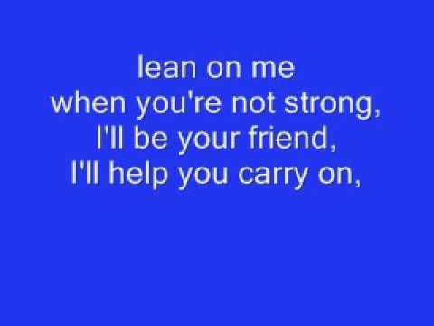 Lean On Me   Micheal Bolton LYRICS   YouTube