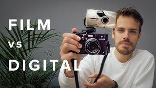 FILM vs DIGITAL!    (Olympus mju ii *Stylus Epic* + Kodak Portra 400 - vs - Fujifilm X100T + VSCO)