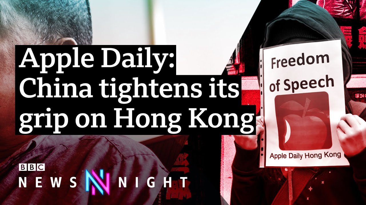 Download Apple Daily: Hong Kong pro-democracy paper forced to shut down - BBC Newsnight