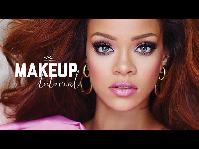 RiRi by Rihanna Inspired Pink Cut-Crease Makeup