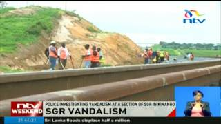 Police investigating vandalism at a section of SGR in Kinango