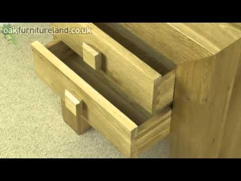 Oakdale Solid Oak 2 Drawer Side Bedside Table From Oak Furniture
