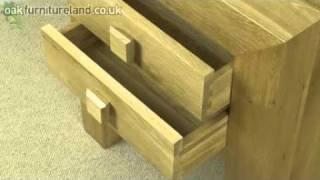 Oakdale Solid Oak 2 Drawer Side/bedside Table From Oak Furniture Land