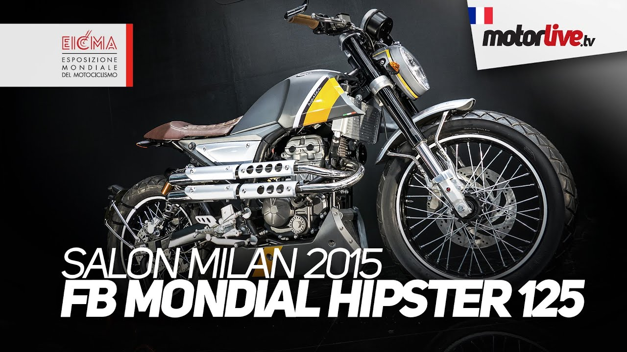 salon milan 2015 fb mondial hipster 125 2016 eicma youtube. Black Bedroom Furniture Sets. Home Design Ideas