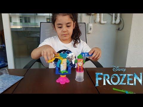 Froozen Elsa Anna Saç Ve Makyaj İlkim Kuaför Oldu Eğlenceli Çocuk Videosu