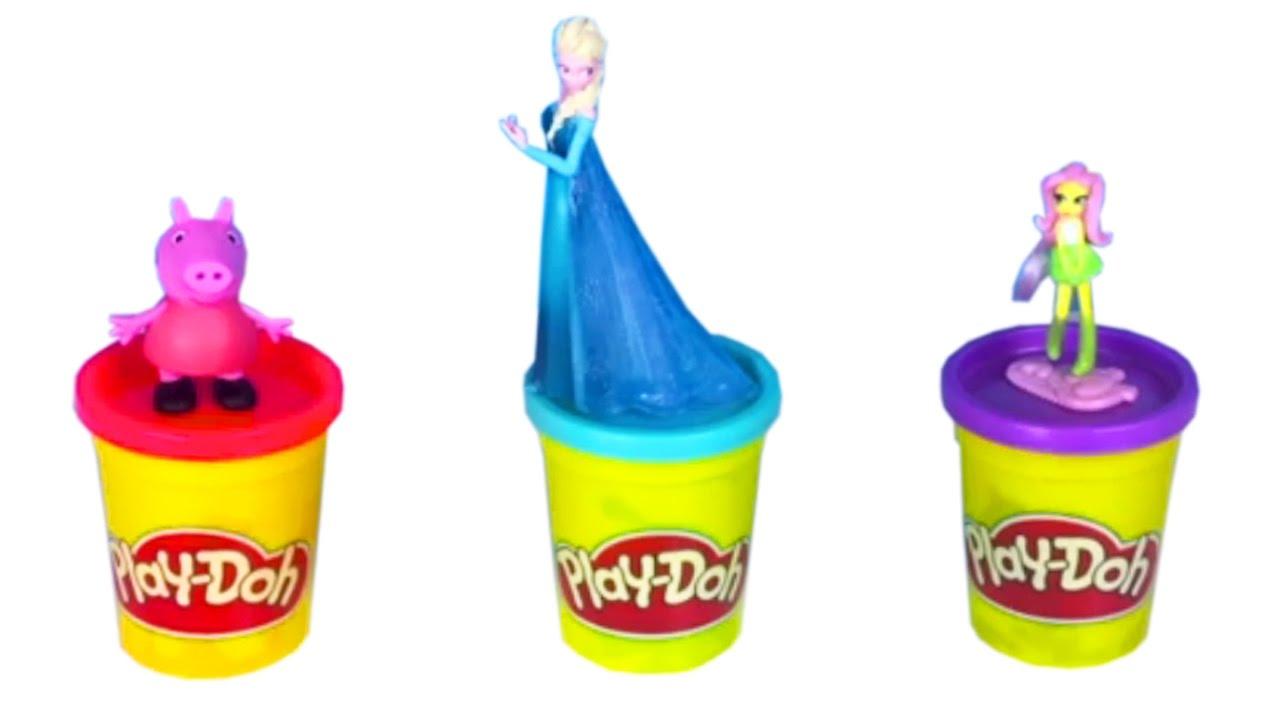 Klei Filmpje Jurk Van Playdoh Voor Peppa Pig Elsa Frozen Speelgoed