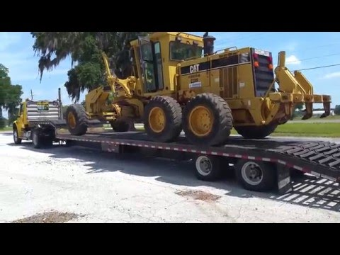 CAT 140H loaded and heading to port Jacksonville FL on it's way to Jordan