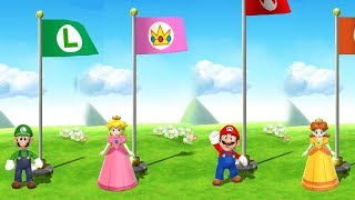 Mario Party 9 Step It Up - Luigi vs Peach vs Mario vs Daisy