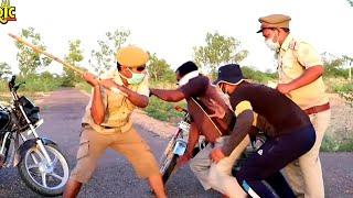 अपोणे गाँव में पुलिस किकर | Hawaldar ChaluRam Ka lockdown Rajasthani comedy