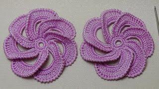 Мастер-класс вязание цветка крючком по спирали - Spiral crochet flower