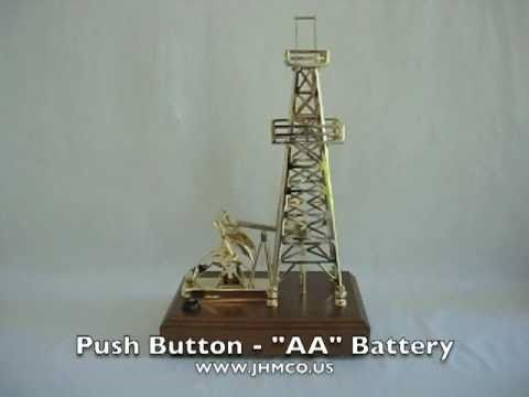 Oilfield Gold Pump Jack Derrick Models Gift