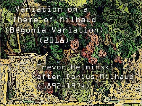 Variation on a Theme of Milhaud (Bégonia Variation), Electronic music arrangement
