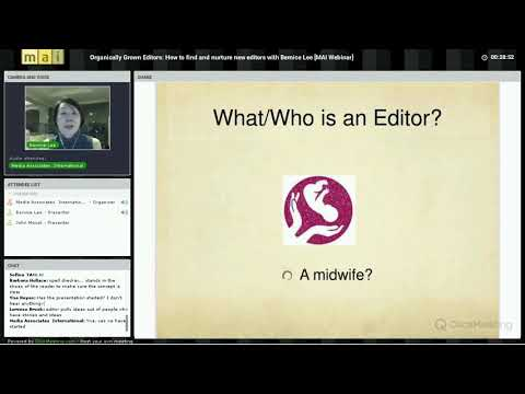 Organically grown editors: How to find and nurture new editors with Bernice Lee [MAI webinar]