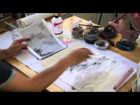 Pouring Ink with Acetone in Chinese Landscape Painting a Live Workshop with Henry Li(2/2)