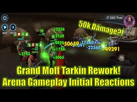 Star Wars Galaxy of Heroes: Grand Moff Tarkin Rework Arena Gameplay Initial Impressions