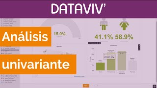 Análisis estadístico de una variable con DATAVIV'