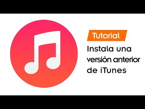 Cómo instalar una versión anterior de iTunes en Windows