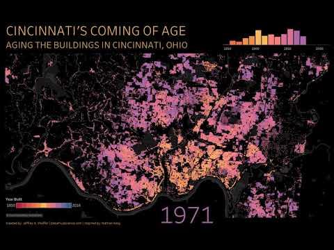 Cincinnati's Coming of Age: Aging the Buildings in Cincinnati, Ohio.