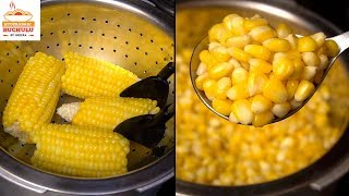 Sweet Corn Recipe | How to Cook Sweet Corn at Home | How to Boil Sweet Corn